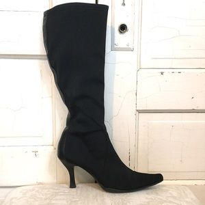 Nine West Stretchy Fabric Pointed Toe Boots